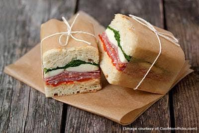 Italian sandwiches -picnic