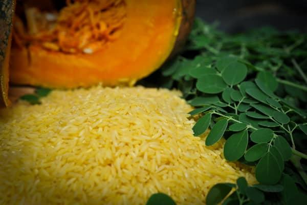 Golden Rice Grain