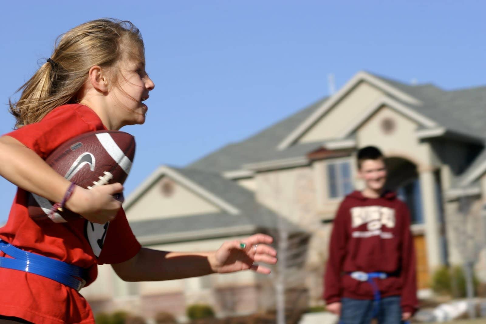 playing flag football
