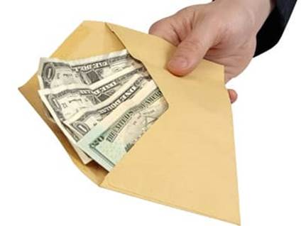 envelope of money