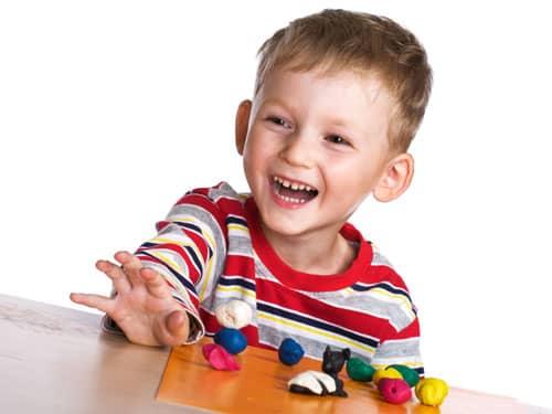 child enjoying free play