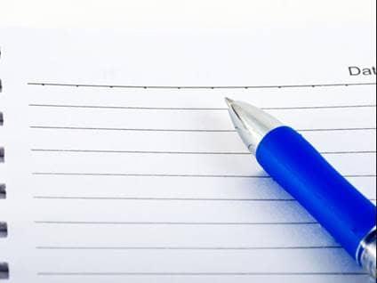parent keeping a journal