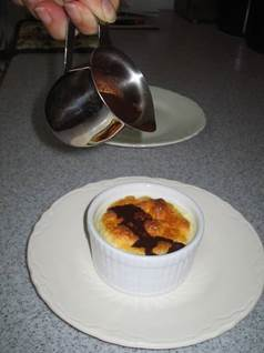 lemon souffle dessert, lemon souffle recipe, wine sauce recipe