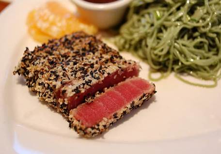 sesame ahi tuna, sesame ahi tuna recipe, sesame ahi tuna recipes, daily recipes