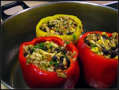 stuffed bell peppers, stuffed pepper recipe, daily recipe,