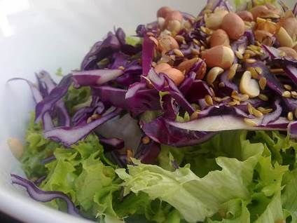 daily recipe, delicious salads, cabbage salad, quick dinner ideas