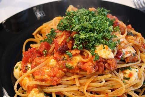 pasta recipes, veggie pasta recipe, pasta and tomato basil sauce