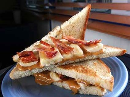 Comfort Food Recipes The Elvis sandwich