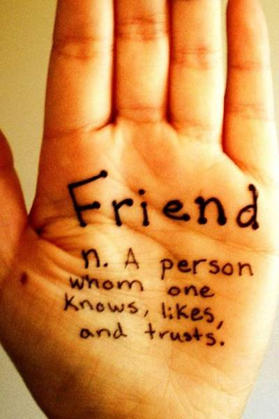 Hand with Friend Defined