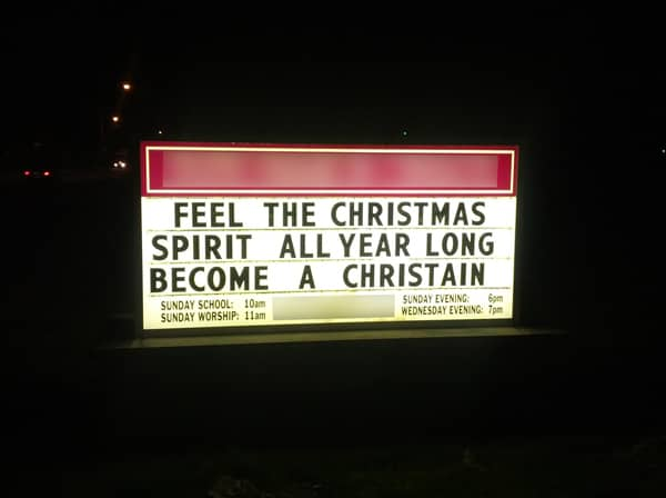 Best Christmas Church Signs - Beliefnet