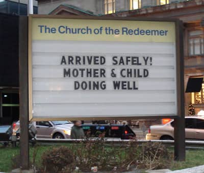 funny, church, signs