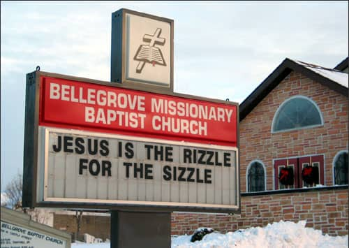 Best Christmas Church Signs - Around Here - Beliefnet