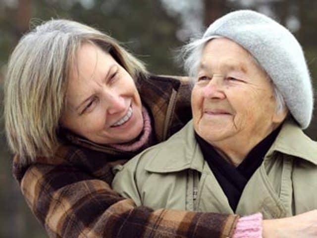 elderly, woman, mother, friends