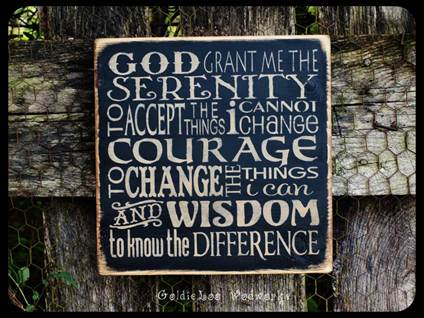 serenity, prayer, woodwork
