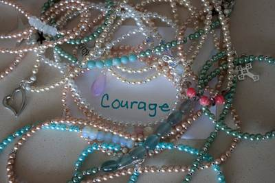 courage, beads, serenity