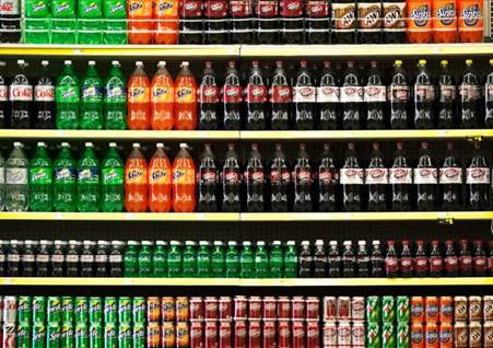 soda, grocery store