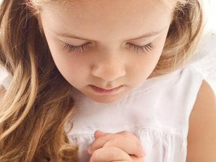 child, prayer, school