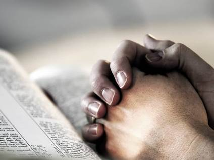 praying, hands, bible
