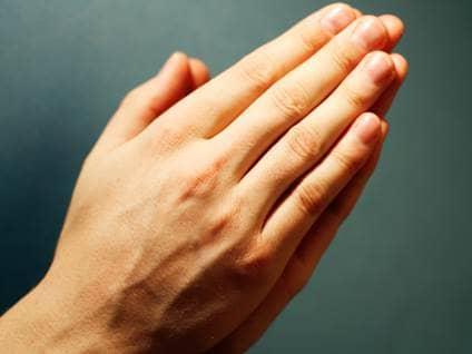 praying, hands, bible