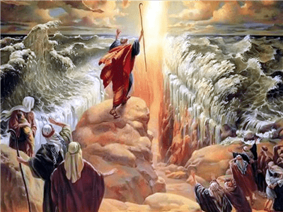 moses, parting, red sea