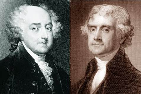 john adams and thomas jefferson John adams and thomas jefferson died within hours of each other, on the 50th anniversary of the adoption of the declaration of independence, july 4, 1826.