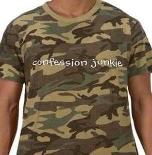 Confession Junkie Catholic tshirt