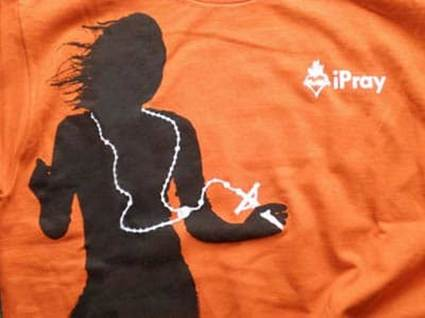 iPray orange Catholic tshirt