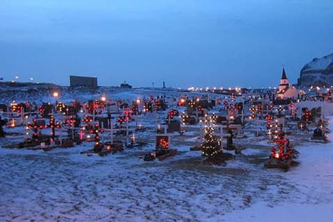 Iceland Graveside Lights