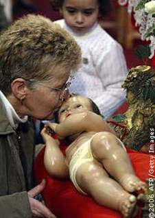 Kissing Baby Jesus
