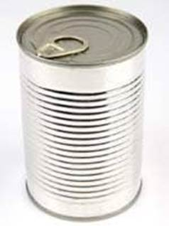 can of food label