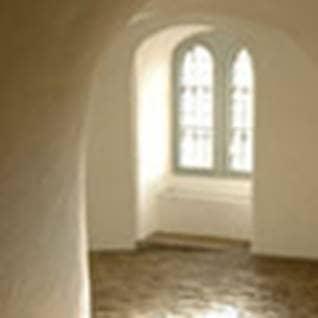 Rest in God hallway window