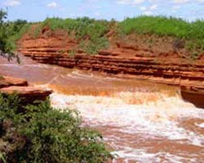 Oklahoma Red Water Falls brown