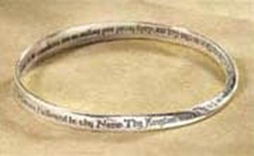 Lord's Prayer Mobius Bracelet engraved sterling silver