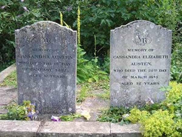 Jane Austen Mother's and Sister's Tombstones England