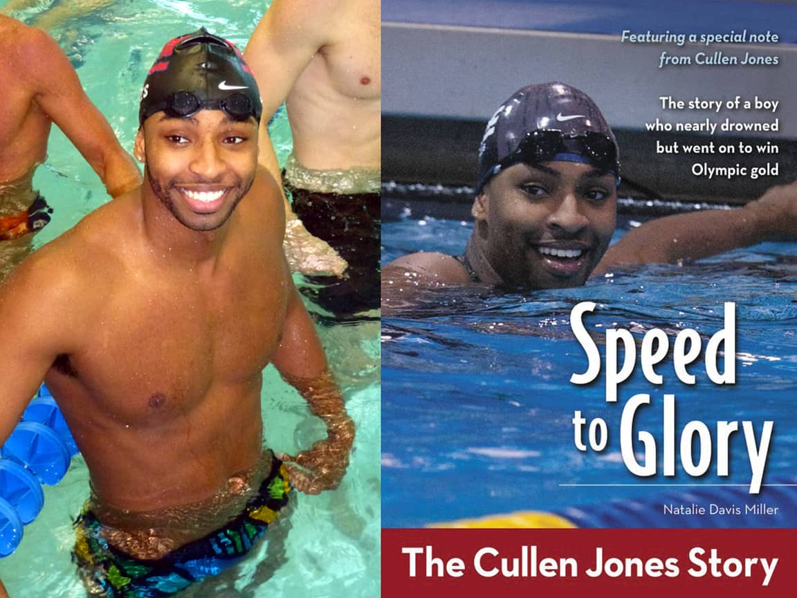 Olympian Cullen Jones pursues his passion - He couldn't swim
