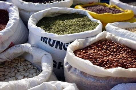 Dry goods market