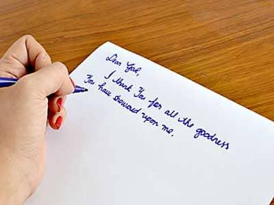 write a prayer