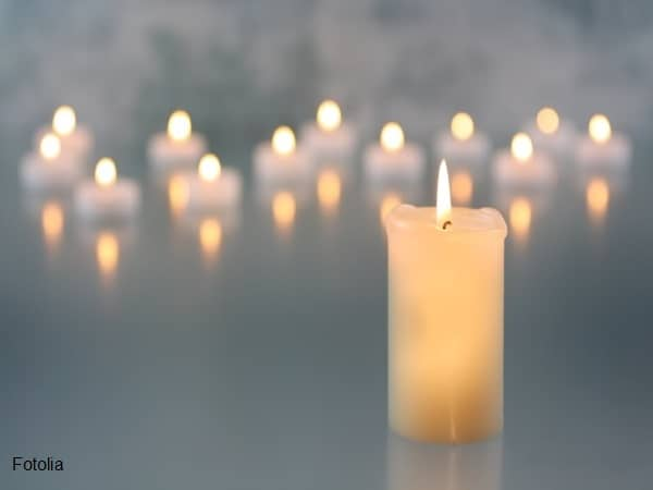 A bunch of lit candles