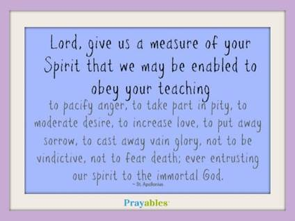 Prayer of St. Apollonius