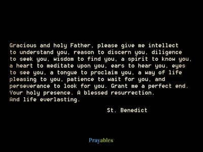 Prayer of St. Benedict