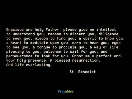 Prayer of St. Benedict