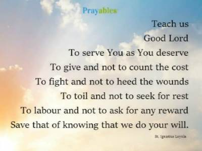Prayer of St. Ignatius Loyola