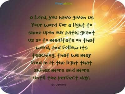Catholic Prayers by Saints - Prayables - A Prayer by St. Jerome ...