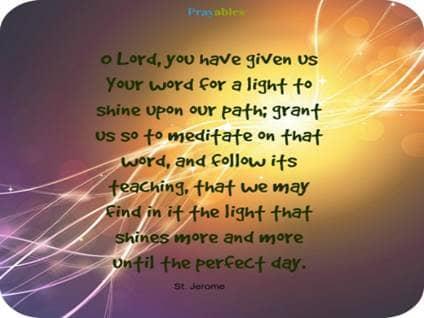 Prayer of St. Jerome