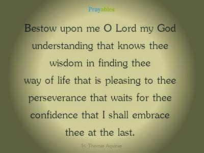 Prayer of St. Thomas Aquinas