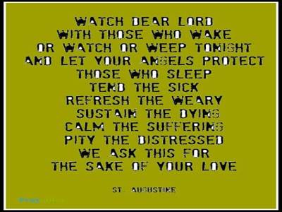 Prayer of St. Augustine