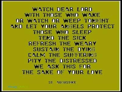 Prayer of St. Augustine