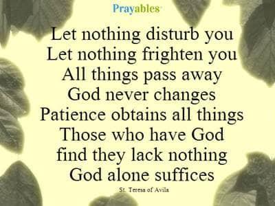 Prayer of St. Teresa of Avila