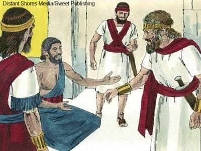 Bible illustration of King David