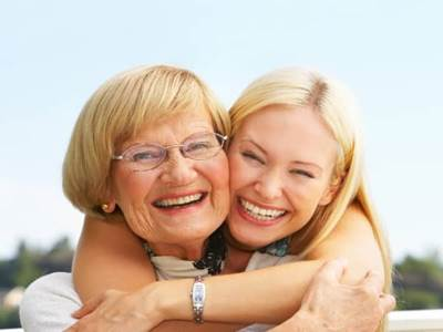 Older Woman with Daughter